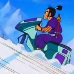 Murasaki sulla motoslitta.