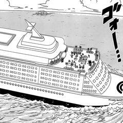 La nave da crociera su cui si tiene il compleanno di Bulma.