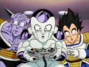 Ginyu, Frieza, and Vegeta playing SNES