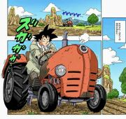 Goku at work