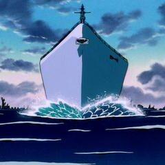 La nave corazzata del Generale Blue in