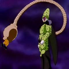 Cell dopo l'assorbimento di Goku