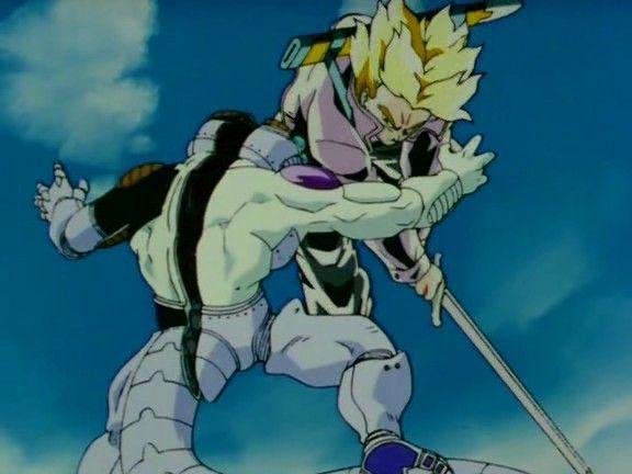 Resultado de imagen de trunks anime matando