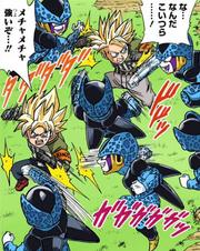 Goten and Trunks vs Cell Jr