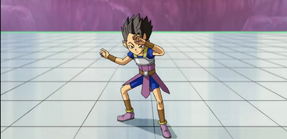 Kyabe posando como Vegeta