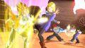 Super Saiyan Vegeta and Future Warrior battle Androids 17 and 18