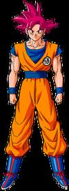 Goku SSGod Artwork Budosai