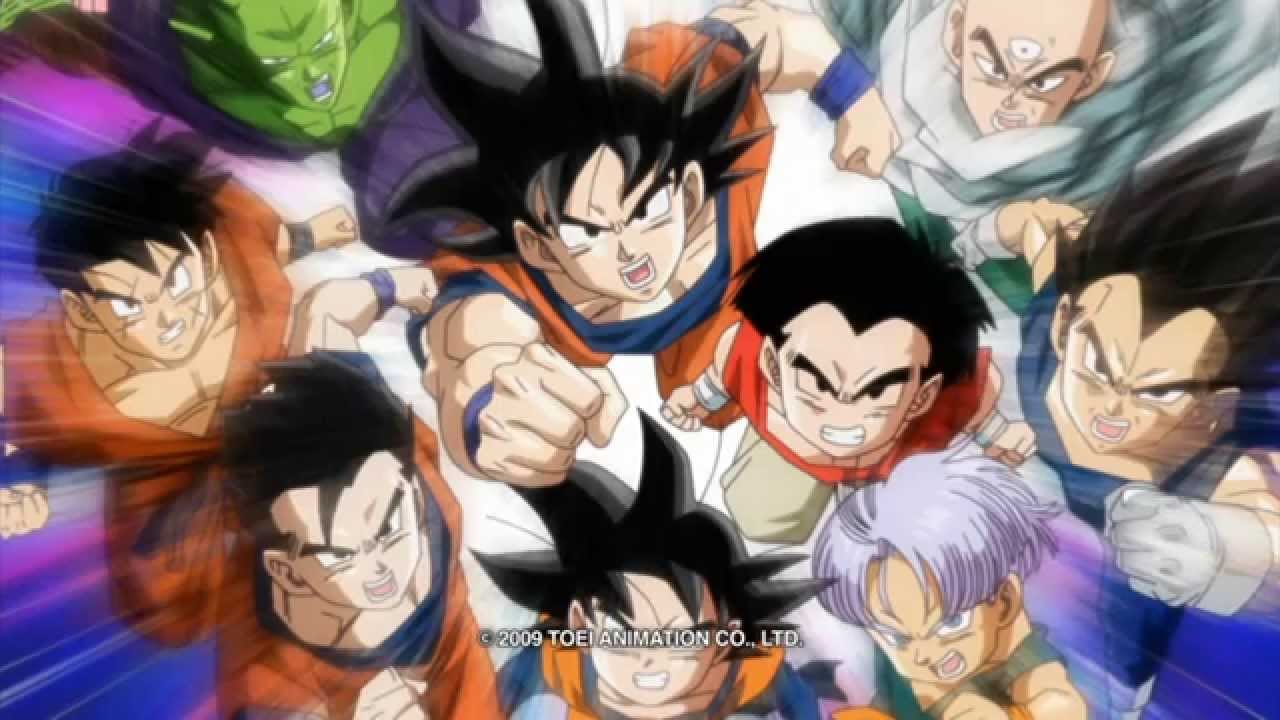 image z fighters charge to attack in dragon ball z kai the final