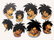 Broly Expresiones faciales Boceto
