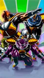 Dokkan Battle The Ultimate Fighting Squadron Captain Ginyu (Ginyu Force) card (Together We Are The Ginyu Force! LR)