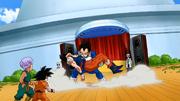 Vegeta salva Goku