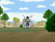 Vegeta utilizando Galaxy Breaker en Dragon Ball Z The Legend
