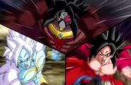 Goku Xeno SS4 vs. Broly Dark vs. Mira Forma Final
