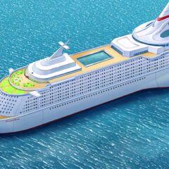 La lussuosa nave da crocera