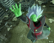 Fused Zamasu calling upon the Light of Justice in Xenoverse 2.