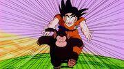 Goku cerca di prendere Bubbles