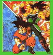 Goku y Bardock presente y pasado