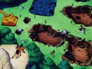 Ejército de mifan cerca de la tierra de karin