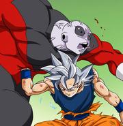 Goku UI gut punch Jiren