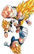 Goku SSJ3 Gotenks Gohan Vegeta D10