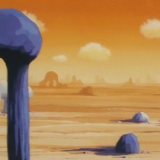Il Deserto del Diablo nell'OAV Il Piano per Sconfiggere i Saiyan.