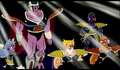 King Cold & his crew (Captain, humanoid Nappa-Esque co-pilot, Appule's race soldier, purple Jeice-esque soldier) happy to find Frieza -DXRD