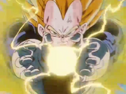 Vegeta si prepara per il Final Flash