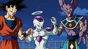 Beerus, Goku e Freezer