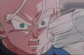 Frieza about to hit trunks in the face