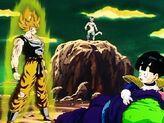 Goku-SSJ-Facing-Frieza