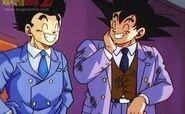 Goku y Gohan riendose