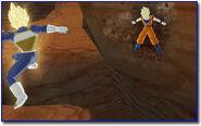Raging blast screen Goku vs Vegeta