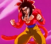 Fully-powered Super Saiyan 4 Goku