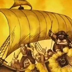 Il veliero dei pirati.