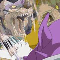 Il Rogafufuken di Gotenks con il potere del lupo.
