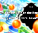 Earth! Gohan! Both on the Ropes! Hurry and Get Here, Goku!!