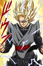 Gokû Black Super Saiyan (Couleur manga)