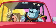 Re Kaioh nella sua automobile