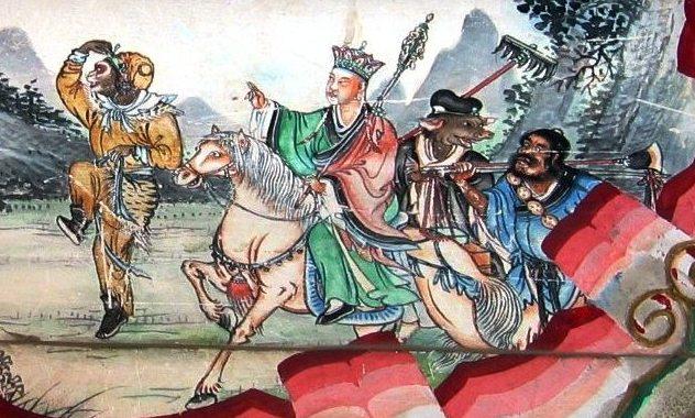 peinture traditionnelle la pérégrination vers l'ouest