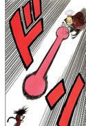 Masked Grandpa Gohan fires a kamehameha at Goku