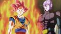 Super Saiyan God Goku and Hit