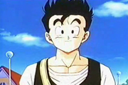 Gohan before he uses super speed to get to school