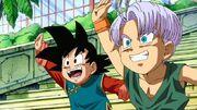 Goten e Trunks - Ossu! Kaette Kita Son Goku to nakama-tachi!!