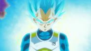 Vegeta showing Super Saiyan Blue to Cabba