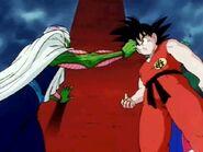 Goku y pikoro discutiendo