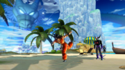 DBXV2 Yamcha (Instructor) Pitching the Turtle Stone (Turtle Stone Hunting Special Class Minigame)