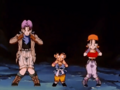Goku, Trunks, Pan dancing