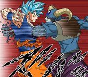 Molo trafigge Son Goku ritaglio