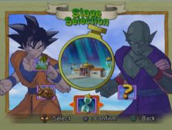 Dragon Ball Z Budokai 2 - Menú de escenarios