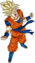 Super Dragon Ball Heroes World Mission - Character Sticker - Goku (Super Saiyan, Berserk)